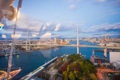 大阪,日本- 2016年11月19日:Tempozan港口村庄图f 免版税库存图片