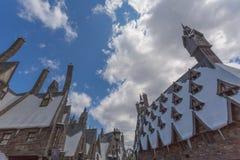 大阪,日本- 2016年6月2日 Hogwarts城堡照片在USJ的 免版税库存照片