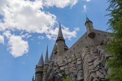大阪,日本- 2016年6月2日 Hogwarts城堡照片在USJ的 免版税图库摄影