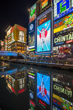 大阪,日本- 2014年11月, 15日:Glico人氖牌 免版税库存图片