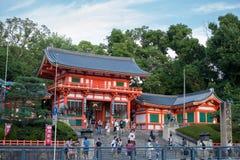大阪,日本- 7月:在大阪附近的游人祀奉2 7月20日, 免版税图库摄影