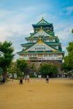 大阪,日本- 2017年7月18日:大阪城堡在大阪,日本 城堡是一个日本` s多数著名地标 免版税库存照片