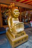 大阪,日本- 2017年7月18日:Billiken事的上帝,当他们应该是雕象在到处在Shinsekai 免版税库存图片