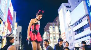 大阪,日本- 2015年10月31日:Dotonbori购物街道在Osa 库存照片