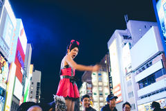大阪,日本- 2015年10月31日:Dotonbori购物街道在Osa 图库摄影