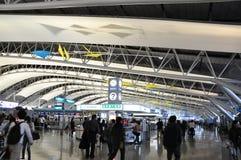 大阪,日本- 10月24 :关西国际机场 免版税库存图片