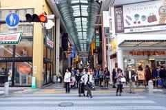 大阪- 10月23 :2012年10月23日的Dotonbori在大阪,日本。 图库摄影