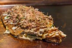 大阪Okonomiyaki 免版税库存图片