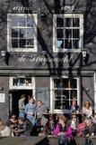 大阳台咖啡馆阿姆斯特丹 免版税库存图片