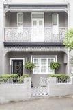 大阳台房子paddington悉尼 库存照片
