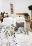 大阳台装饰在家 免版税库存照片