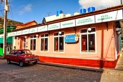大阳台酒吧` Floridita `在特立尼达/古巴 免版税库存图片