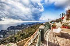 从大阳台,坐骨海岛的看法 免版税库存照片
