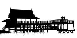 水大阳台 免版税库存图片