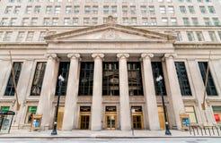 大陆伊利诺伊银行大楼看法在南LaSalle街道的在芝加哥 免版税图库摄影