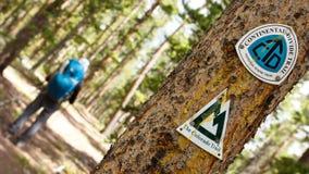 大陆分水岭足迹和科罗拉多足迹标志 图库摄影