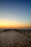 大雅默斯码头早黎明 库存照片