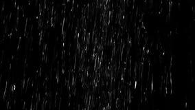 大雨阿尔法通道 影视素材