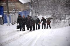大雪和blizzard_9 免版税库存照片