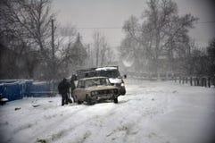 大雪和blizzard_13 免版税库存图片