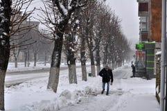 大雪和blizzard_4 免版税库存图片