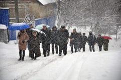 大雪和blizzard_3 免版税库存照片