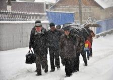 大雪和blizzard_6 免版税库存照片