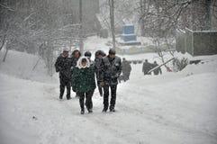 大雪和blizzard_10 库存照片