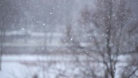 大雪在城市 影视素材