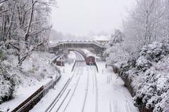 大雪在英国 库存图片
