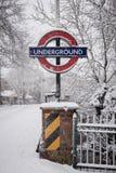 大雪在英国 免版税库存照片