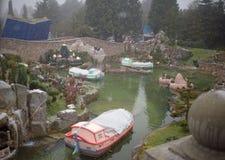 大雪的迪斯尼乐园巴黎 图库摄影