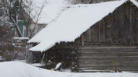 大雪(风暴),飞雪 大雪,一个被放弃的房子 股票录像