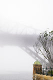 大雾在悉尼港口的早晨 库存照片