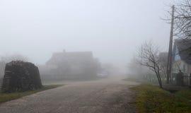 大雾在11月 免版税库存照片