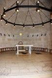 大面包和鱼, Tabgha,以色列的增殖的教会 库存照片