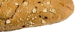 大面包在白色背景隔绝的multigrain面包 图库摄影