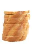 大面包堆切白色 库存图片