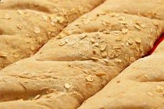 大面包是准备烘烤的 免版税库存照片