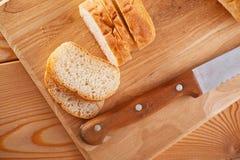 大面包长期切了 免版税库存图片