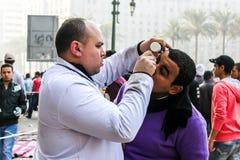 大革命在开罗,埃及 免版税库存图片