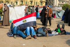 大革命在开罗,埃及 免版税库存照片