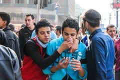 大革命在开罗,埃及 免版税图库摄影