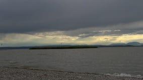 大风天在布尔根兰州 免版税库存照片