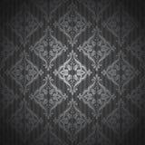 大马士革样式 背景无缝的葡萄酒 免版税库存图片
