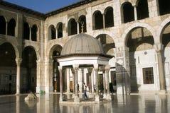 大马士革清真寺叙利亚umayyad 免版税库存照片