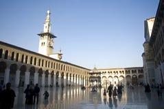 大马士革清真寺叙利亚umayyad 免版税图库摄影
