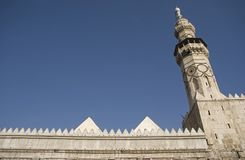 大马士革清真寺叙利亚umayyad 图库摄影