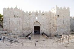 大马士革门城市耶路撒冷巴勒斯坦以色列 免版税库存照片
