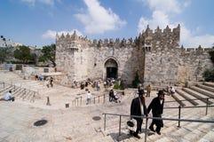 大马士革门耶路撒冷 免版税图库摄影